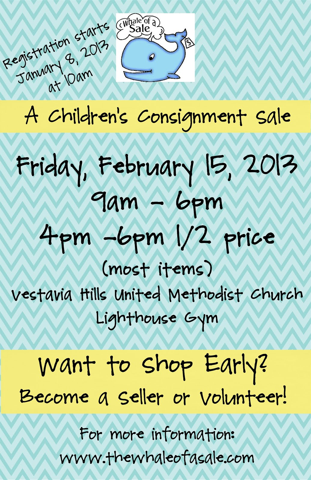 Whale of A Sale ~ A Children&#39;s Consignment Sale