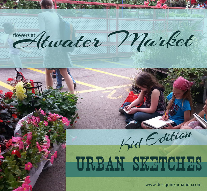 sketching, atwater, montreal, drawing with kids, urban sketching