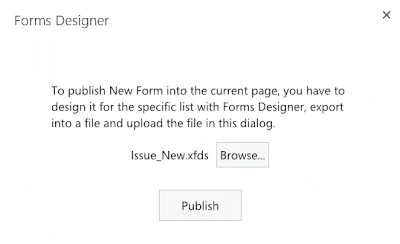 Import SharePoint form