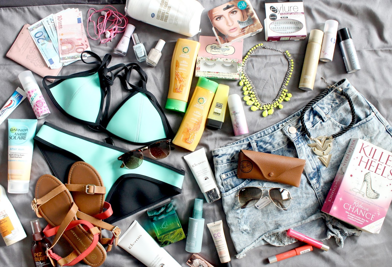 The Holiday Essentials, What to take on holiday, What's in my Suitcase, Packing for a Holiday, Holiday Beauty Essentials