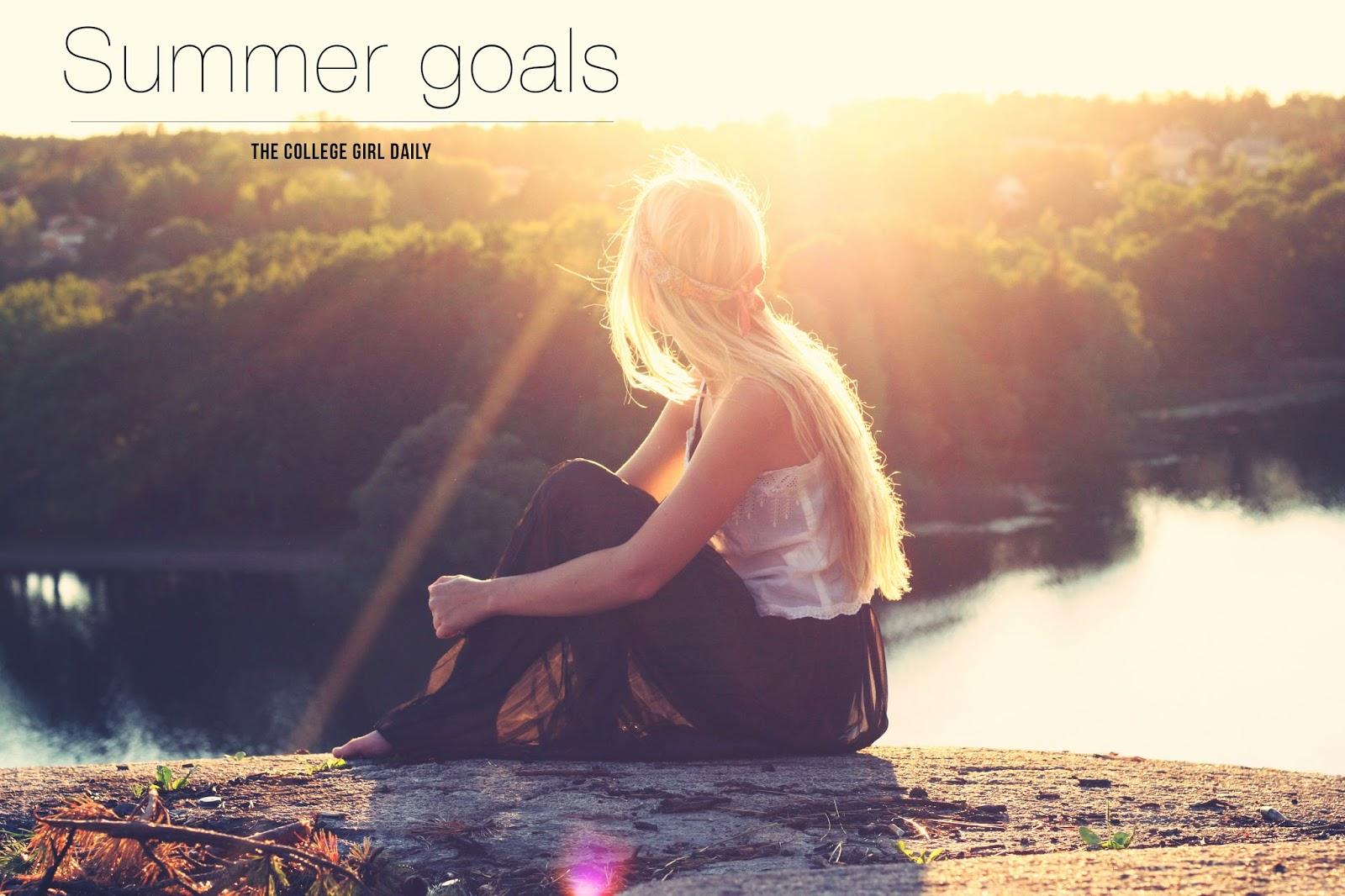 summer, goals, 2015, college, goal,