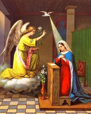 La Anunciacion Angel Gabriel Y Maria