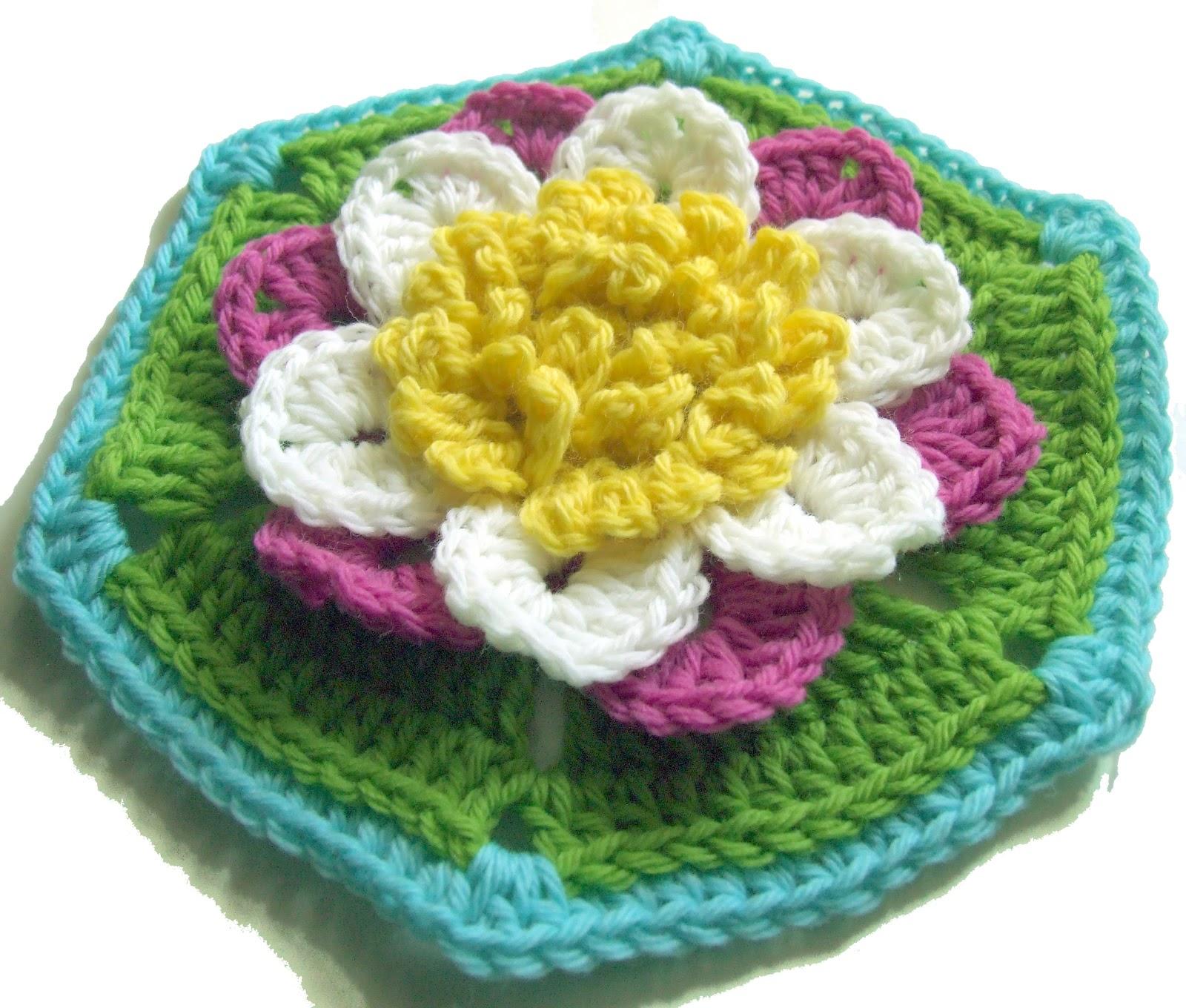 Water Lily Hexagon Crochet Pattern Woolnhook By Leonie Morgan