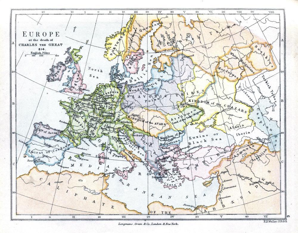 Karta Evrope 814 Godine Palanacki Magazin