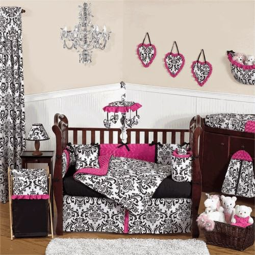 red black and white crib bedding