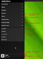 openSUSE 12.2 Manokwari Main Menu