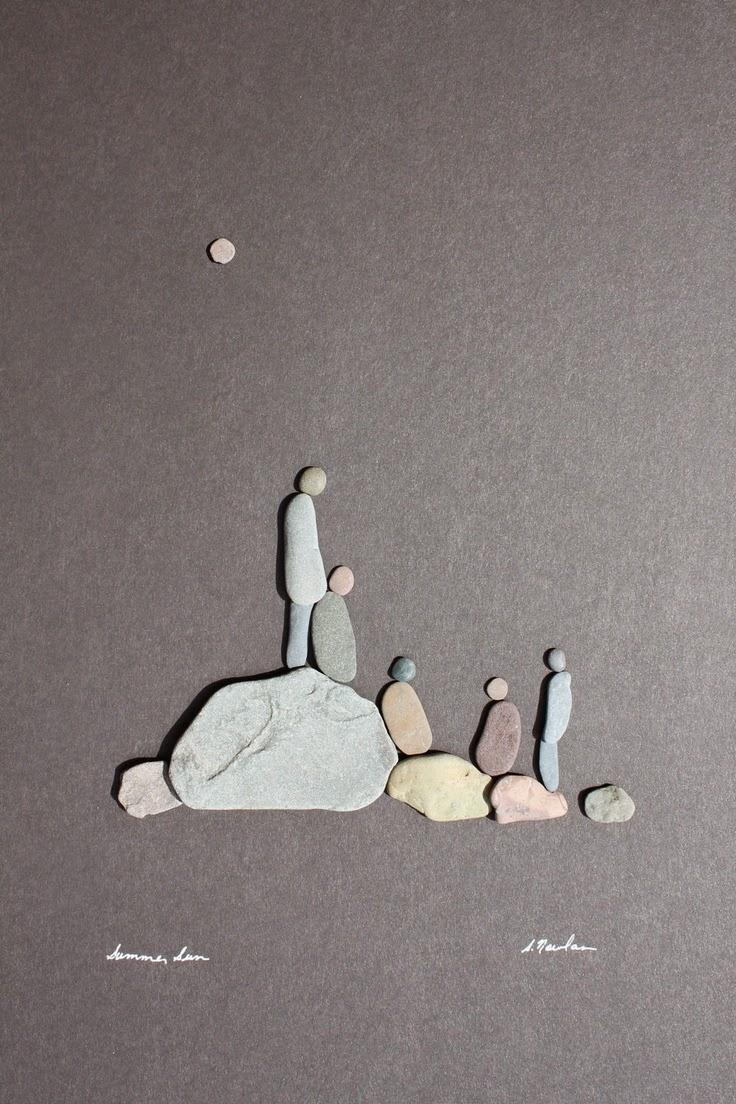 Hermoso arte con piedras de r o quiero m s dise o - Cuadros con piedras ...
