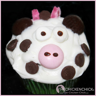 Farm animal cupcakes, cow