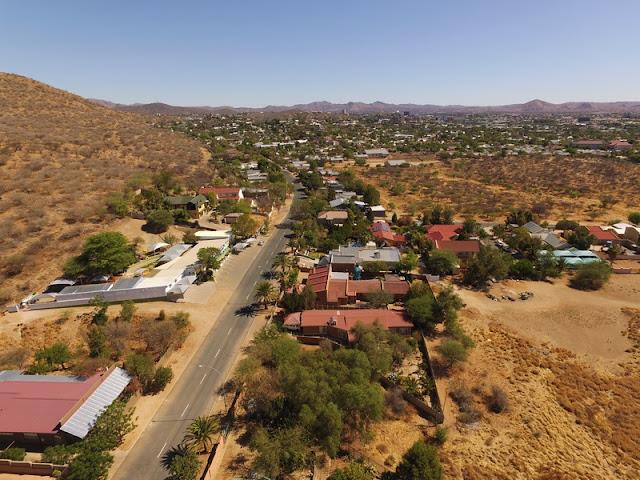 Namibia: sunny weekend flying over Windhoek - aerial photo gallery