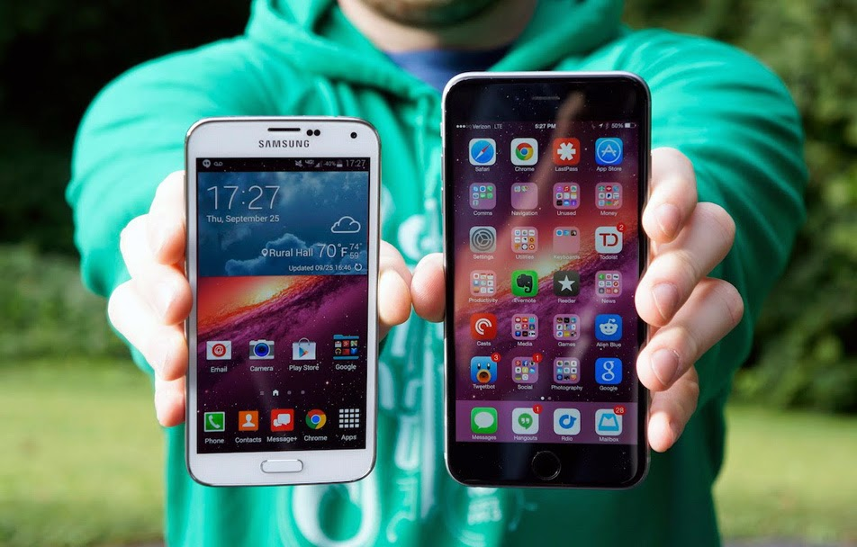 IPhone 6 VS Samsung S6 view