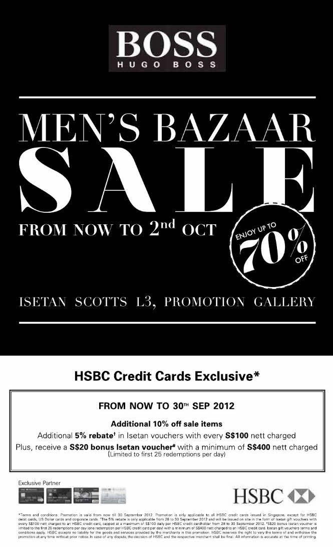 sg sales deals freebies hugo boss men s bazaar sale till. Black Bedroom Furniture Sets. Home Design Ideas