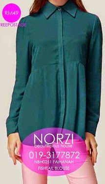 NBH0251 FAIHANAH BLOUSE (NURSING FRIENDLY)