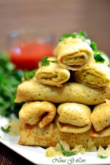 Фаршированные блины с начинкой - 131 рецепт приготовления пошагово
