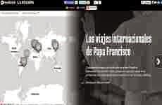 Los viajes internacionales del Papa Francisco en un mapa interactivo