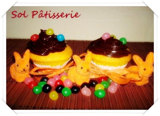 Cupcakes de cenoura e cobertura de ganache de chocolate