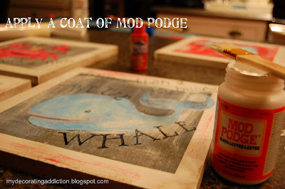 how to make Mod Podge wall decor
