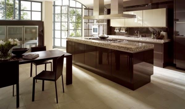 Cocinas integrales modernas color chocolate colores en casa - Color de cocinas modernas ...