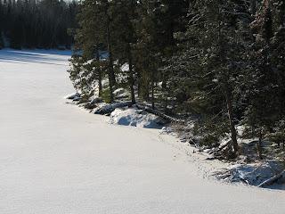 An old beaver lodge in winter, Burntside Lake, http://huismanconcepts.com/