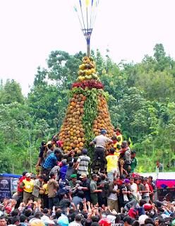 tradisi kenduren, durian, wisata jombang, wonosalam