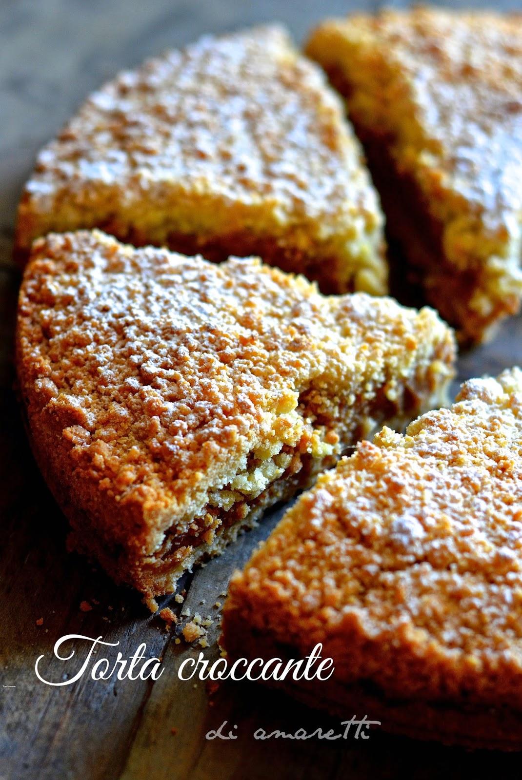 torta croccante di amaretti