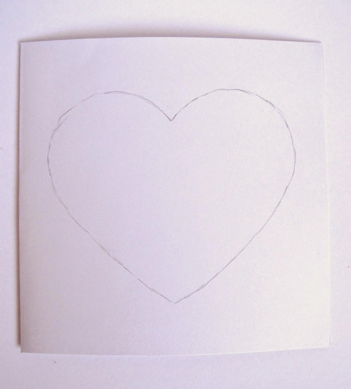 material para tarjeta CORAZÓN de San Valentín scrapbooking