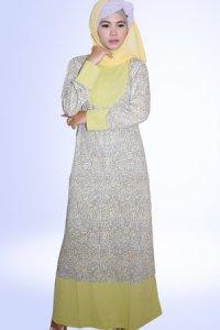Idmonia Gamis 08 - Hijau Pucuk (Toko Jilbab dan Busana Muslimah Terbaru)