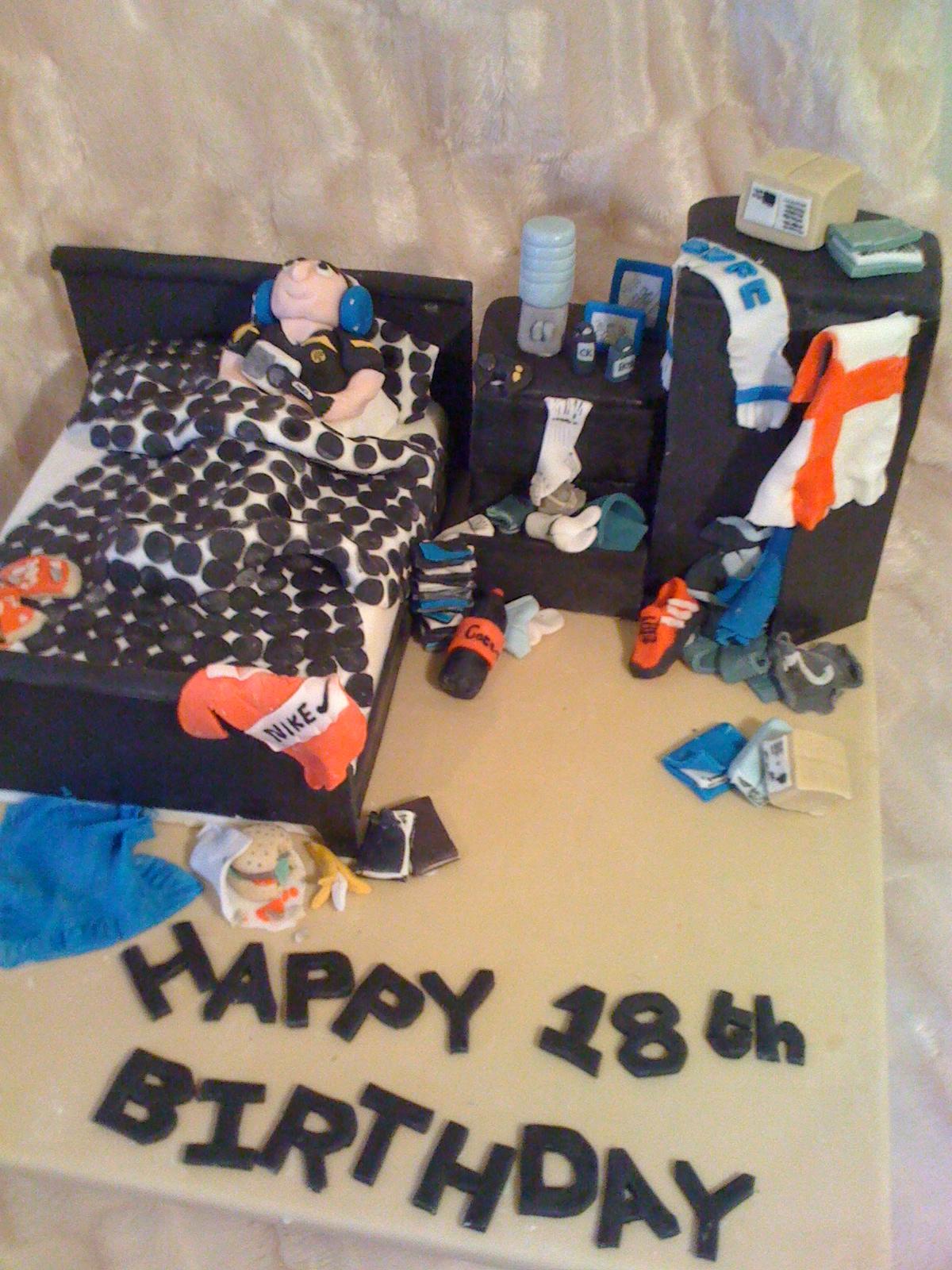 Messy Boys Bedroom Cake