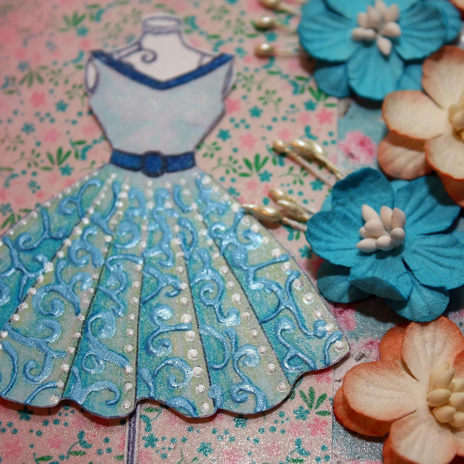 Платье скрапбукинг открытка 58
