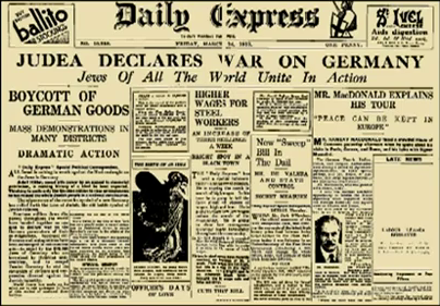 jew_hitler_boycott_allemagne_germany_1933_daily_express_quenelle_dieudonné_lobby