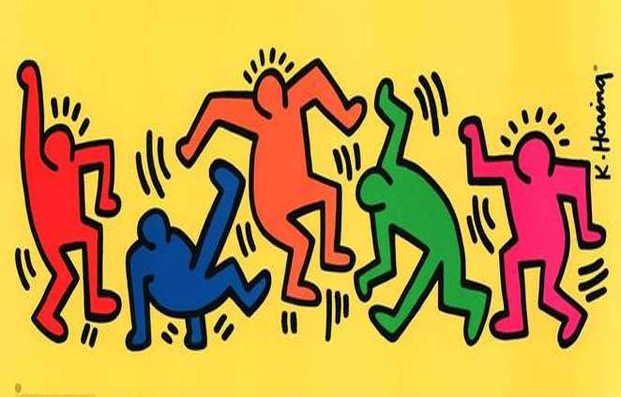 Keith Haring Mural Collections : High Resolution Pictures