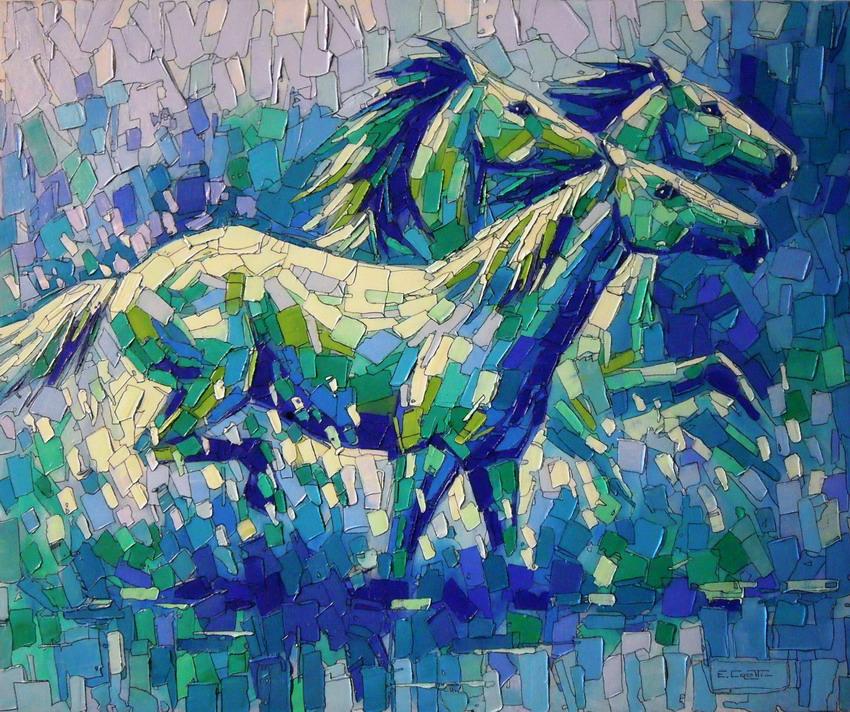Cuadros modernos pinturas y dibujos im genes de caballos for Imagenes de cuadros abstractos con relieve
