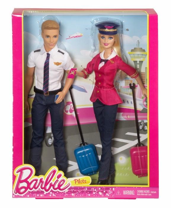 JUGUETES - BARBIE : Profesiones  Pilotos de Avion | Pack | Muñecas  Producto Oficial 2015 | Mattel | A partir de 3 años
