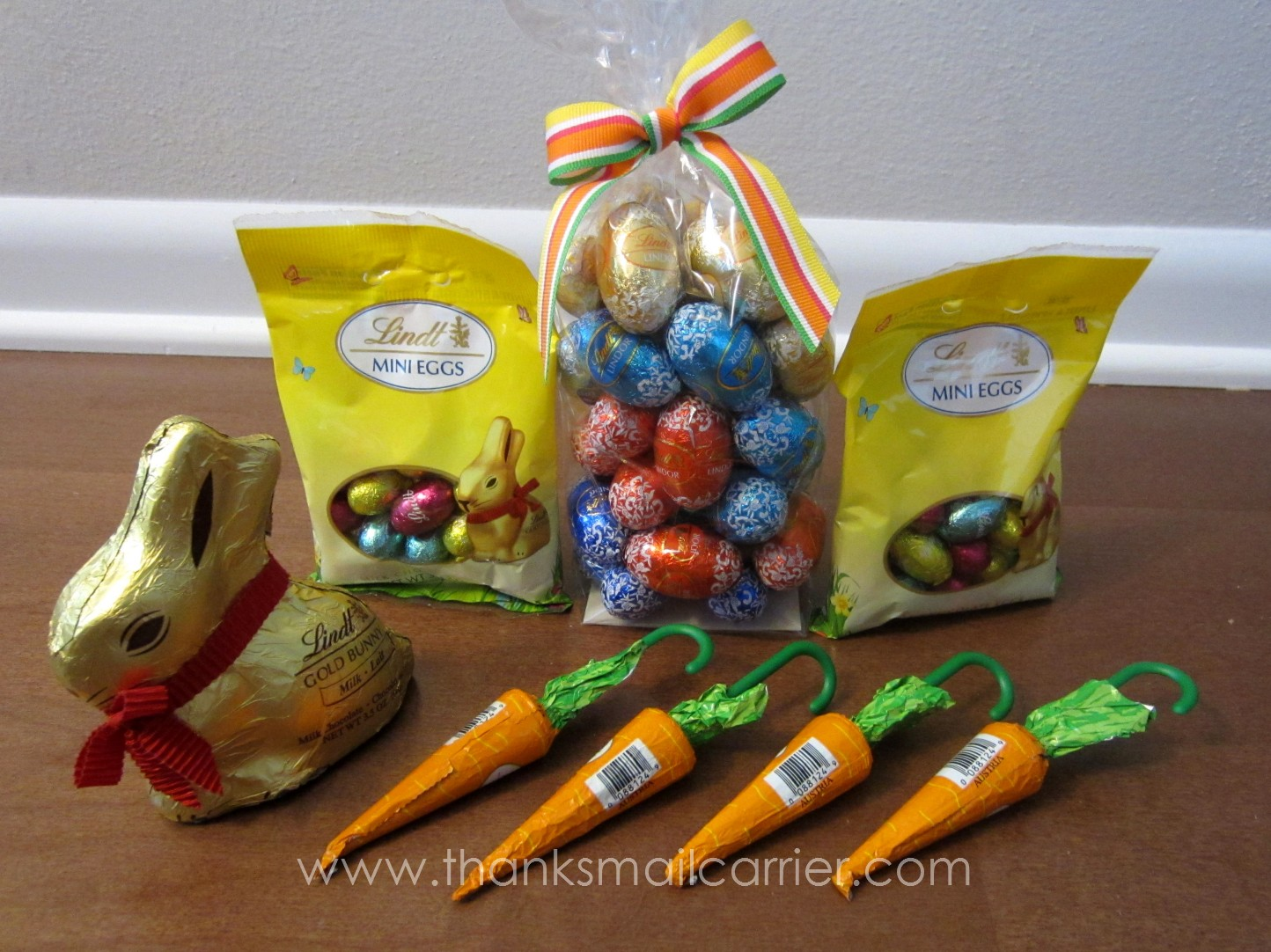 Thanks mail carrier celebrate easter with lindt hoppy easter as the perfect way to bring excitement joy and a heartwarming smile to the easter season the hoppy easter gift basket was just enough premium lindt negle