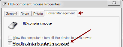 How to Evade Interruption of mouse on sleep mode
