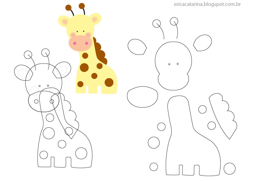Moldes de Girafa em EVA