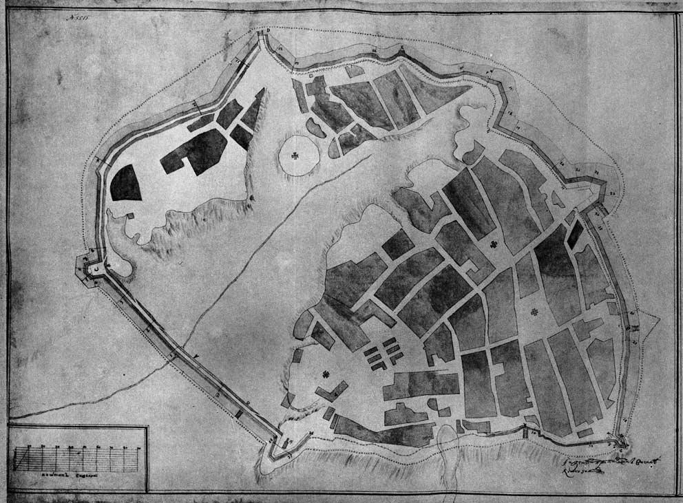 План Полтавы В. Кутузова. 1729