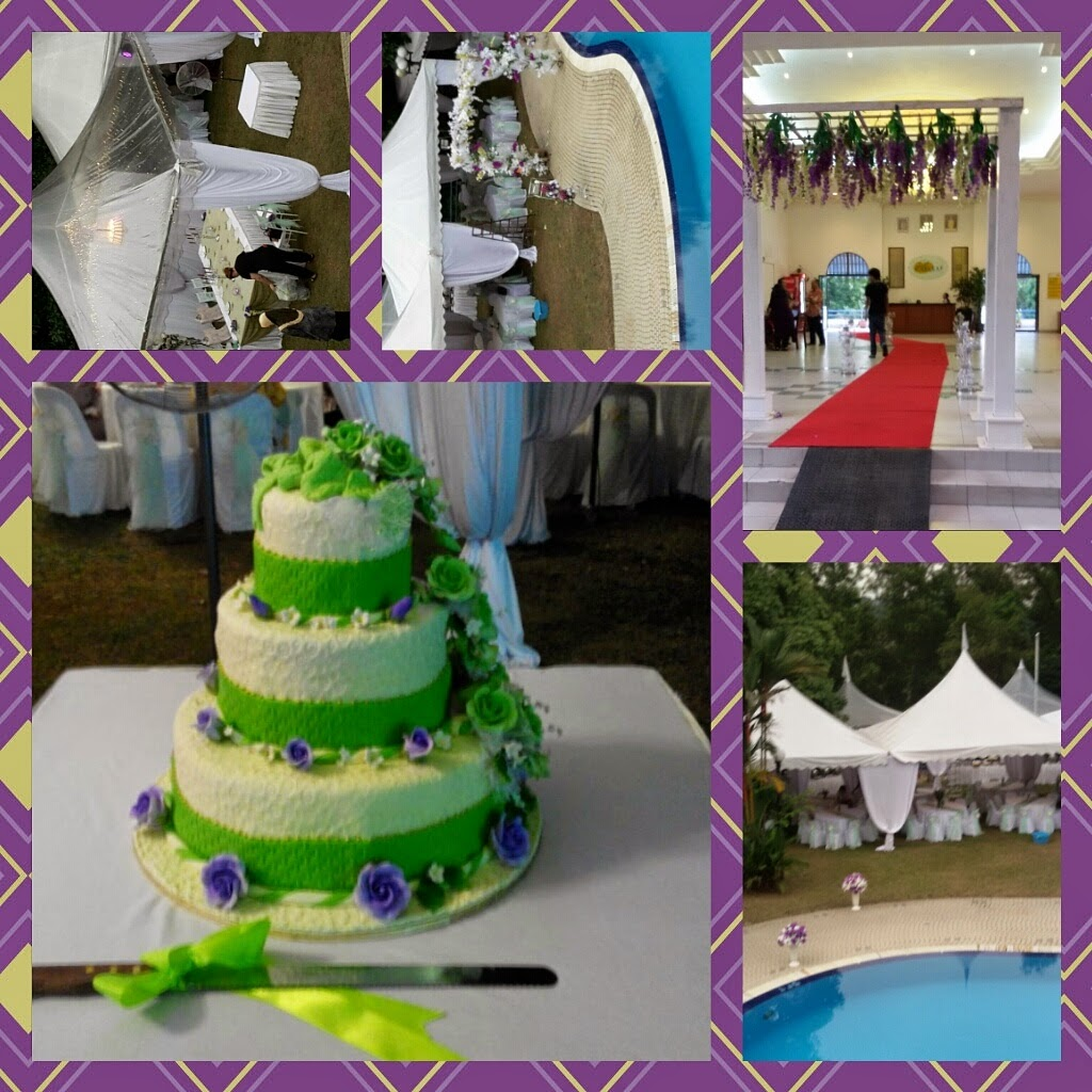 wedding cake..green..
