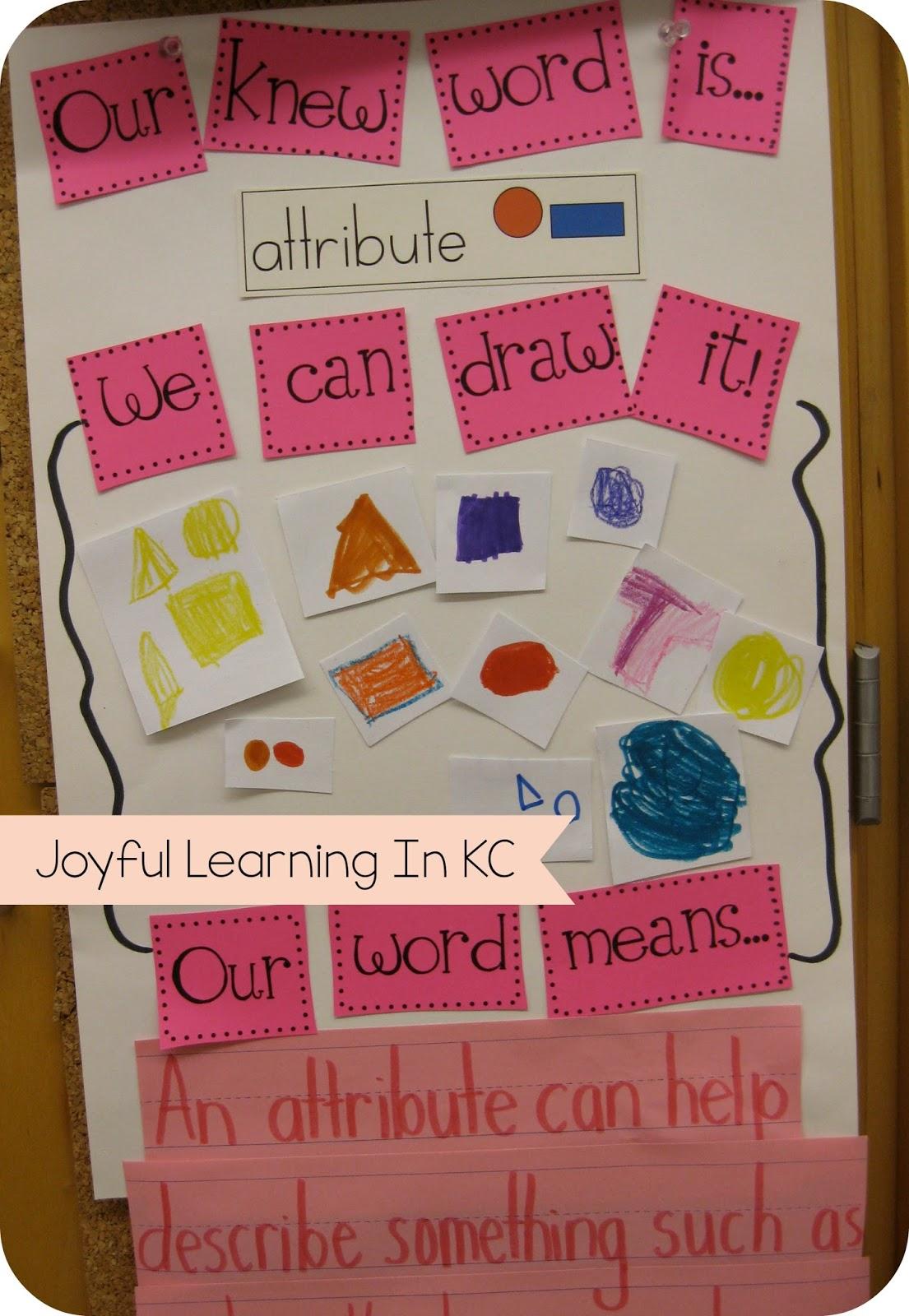math vocabulary in kindergarten