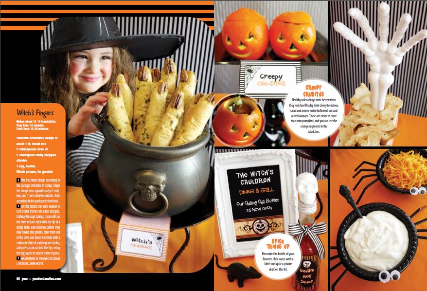 Halloween party buffet food ideas for Bar food ideas recipes