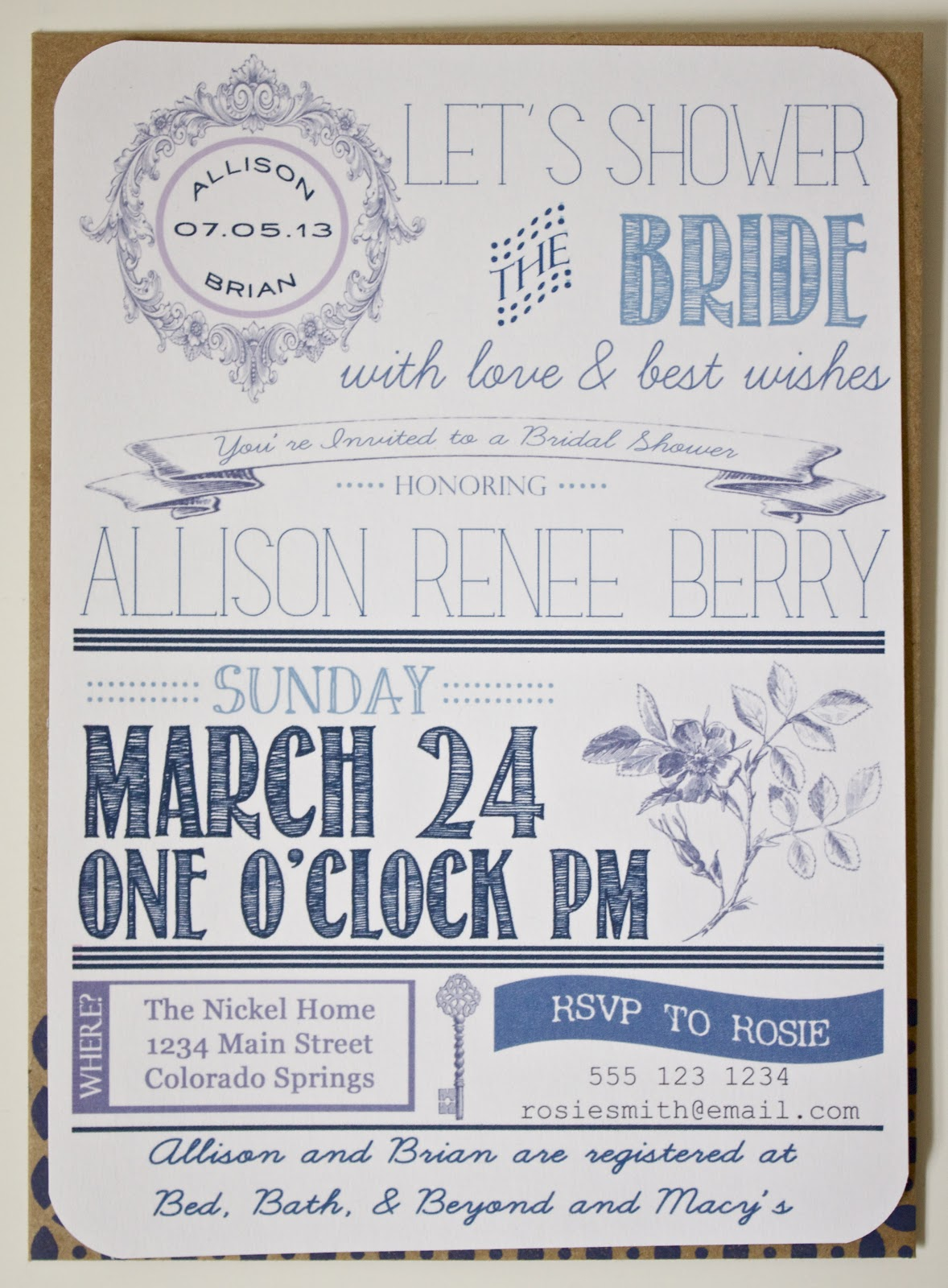 diy bridal shower invitations