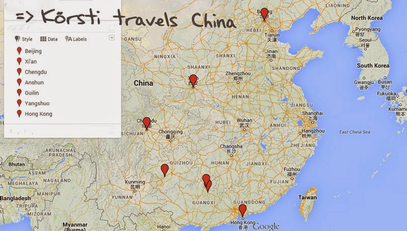 Route through China