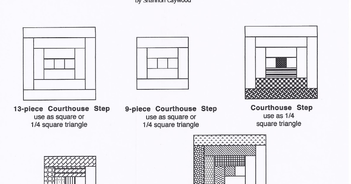 Favorite quilting tips and recipes tutorial for log for How to draw a log cabin step by step