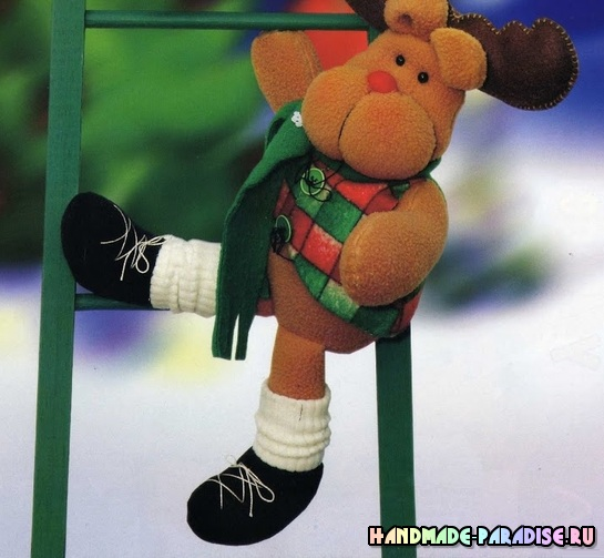 Рождественские олени. Выкройки текстильных игрушек (5)