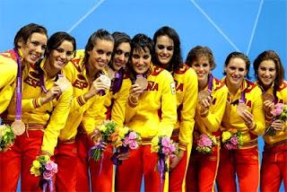 Natación Sincronizada medalla de bronce equipos España Juegos Olímpicos de Londres 2012