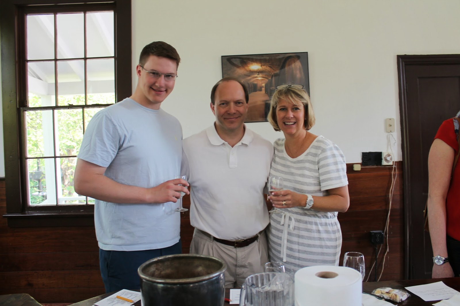 Brotherhood Winery tasting room - Winey Mom, Hubs and Son