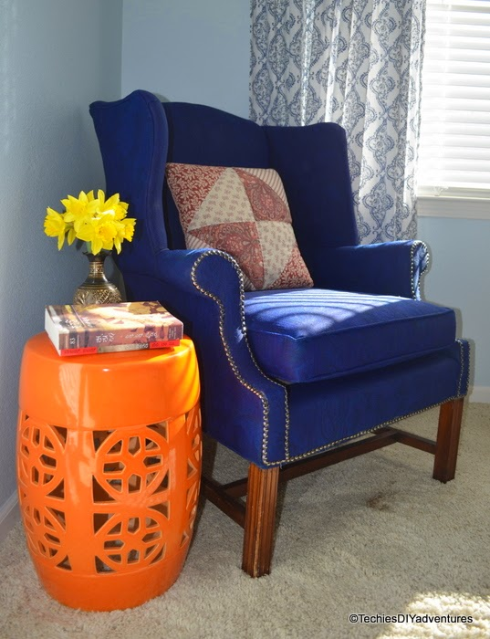 Garden Stool as Side table