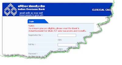 IOB Clerk Recruitment 2012 Online Form