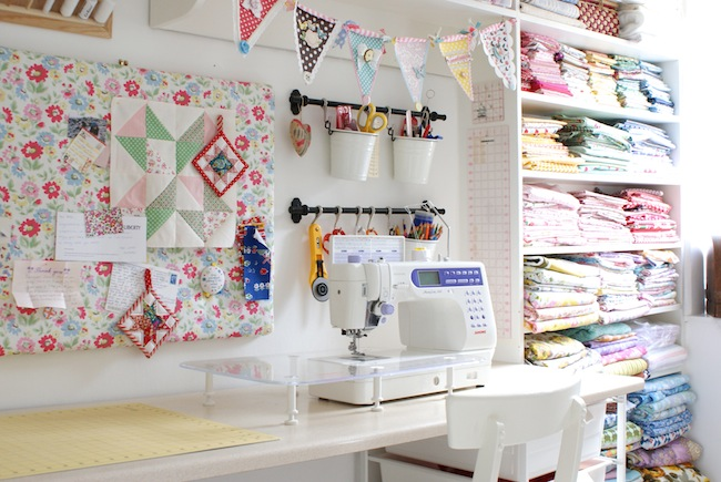 Erika 39 s chiquis unique sewing rooms for Craft and sewing room ideas
