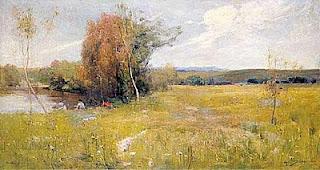 Spring - Arthur Streeton painting