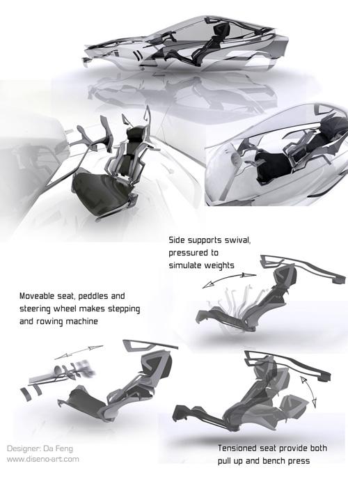 gym concept car with 3D mode